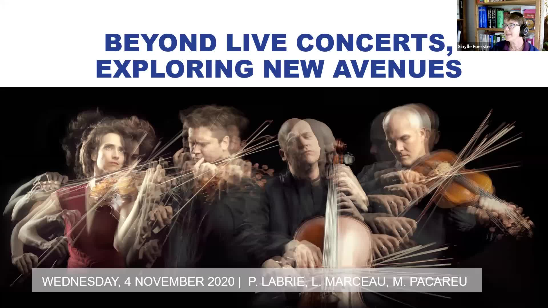 Beyond live concerts, exploring new avenues