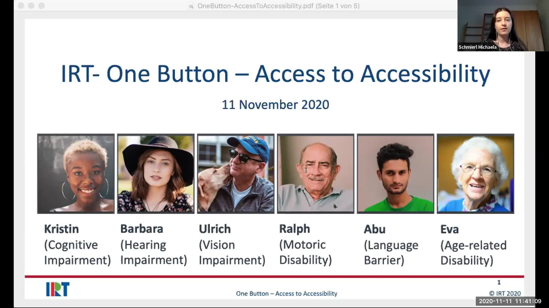 Lightning Talk: One button concept - Access to accessibility