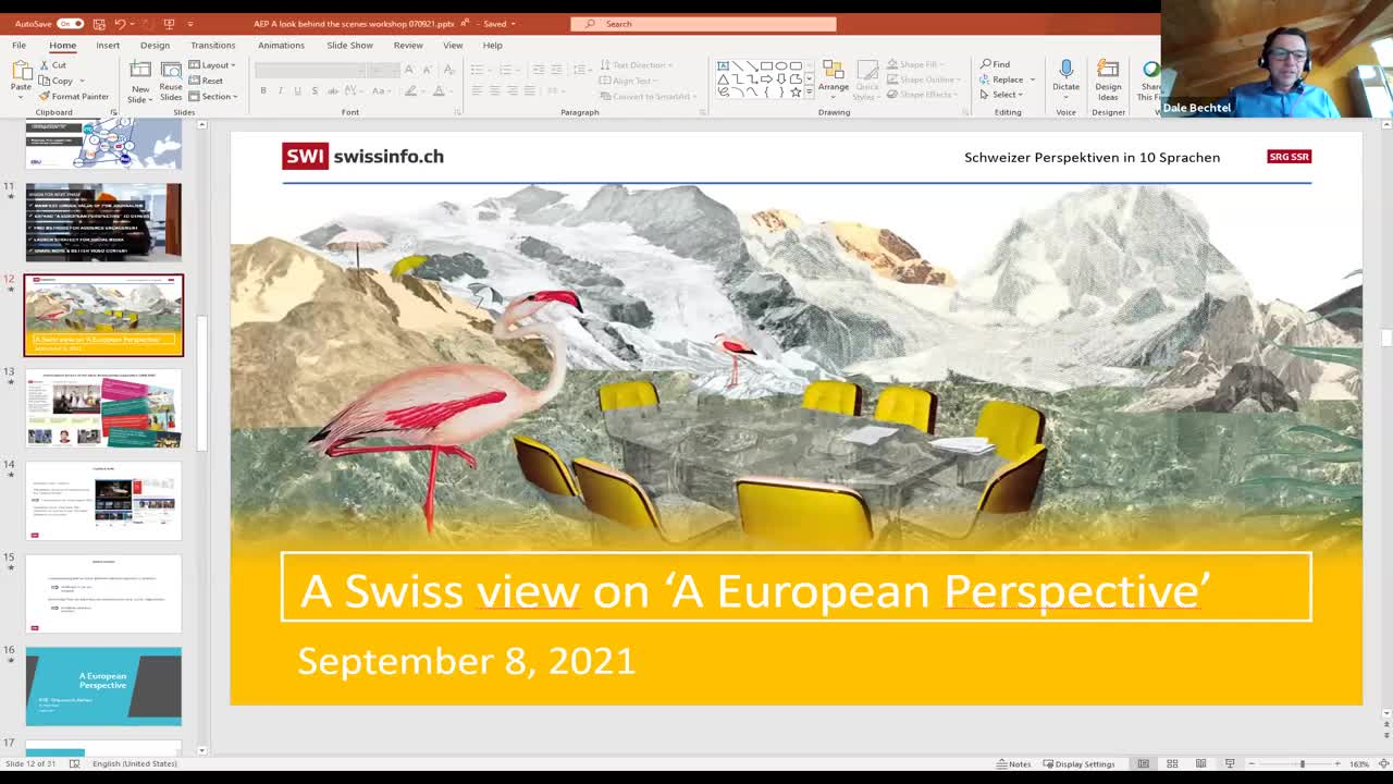 Vu d'Europe : l'expérience de SWI